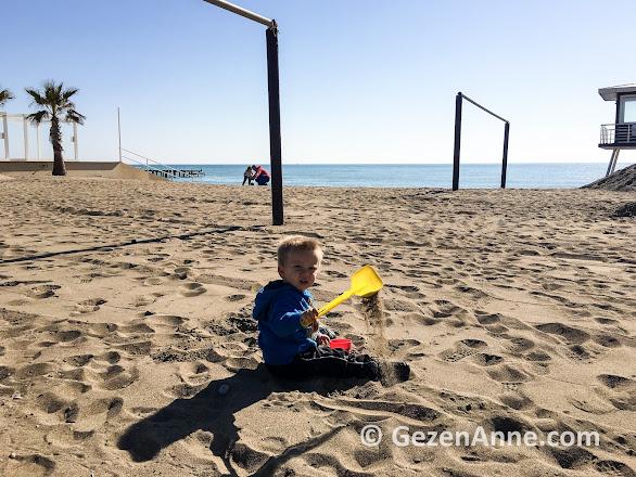 ince kumda bebeğimin oyun keyfi, Rixos Belek Antalya