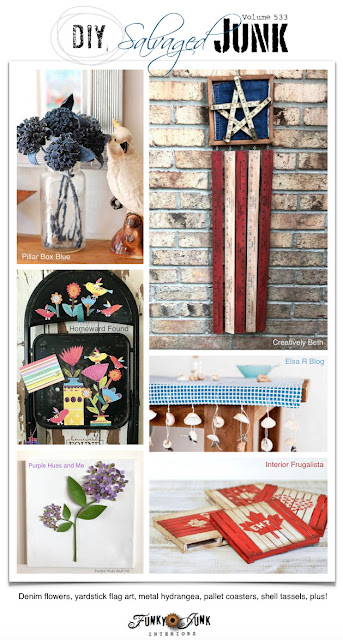 salvaged, junk, junking, junk decor, recycled, upcycled, repurposed, makeover, home decor, link party