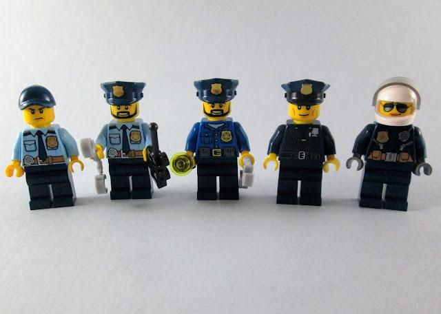 Minifiguras LEGO Polícias de uniforme azul