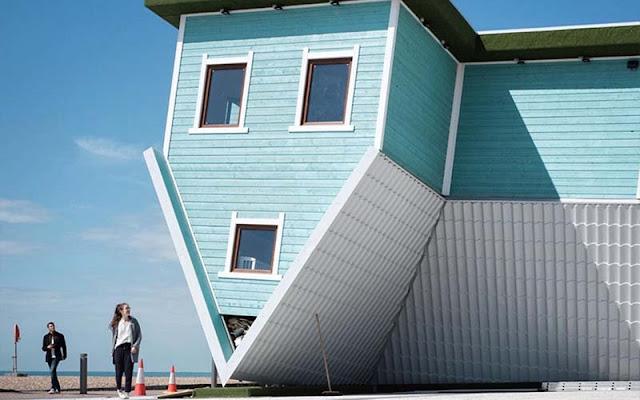 ngôi nhà quay ngược ở Bắc Âu