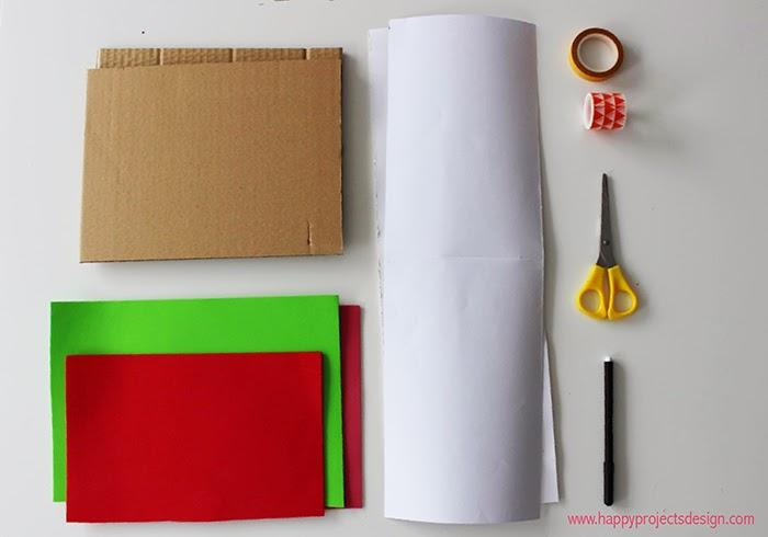 Sant Jordi: Libro Acordeón Estampado. Materiales