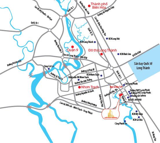 Vị trí dự án Long Phước Residence