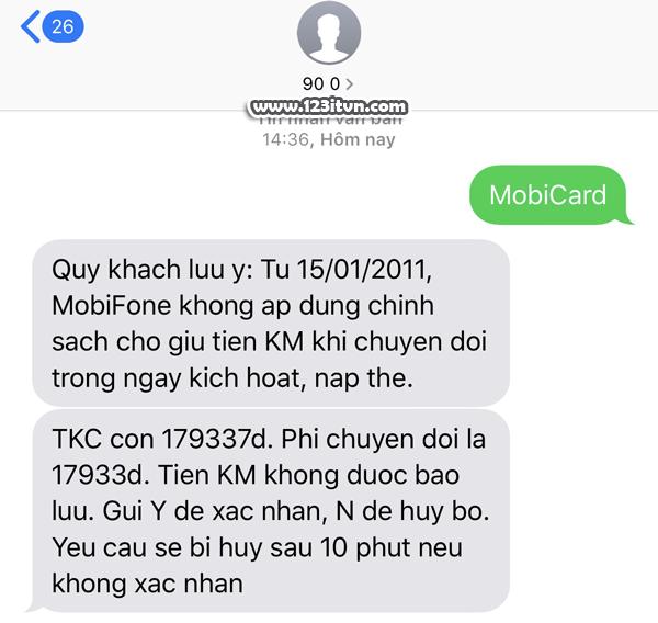 Hướng dẫn chuyển đổi gói cước mobifone