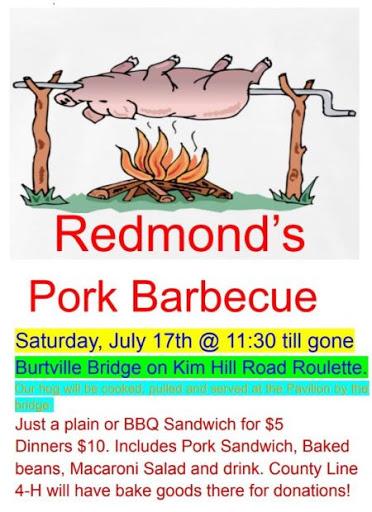 7-17 Redmond's Pork BBQ In Roulette