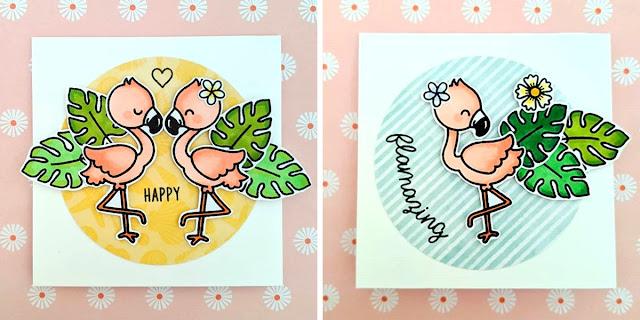 Sunny Studio Stamps: Fabulous Flamingos Customer Card by Tinascrapbook
