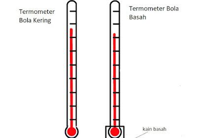 Perbedaan Temperatur Bola Basah dan Temperatur Bola Kering