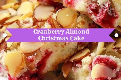 Cranberry Almond Christmas Cake #christmas #cake