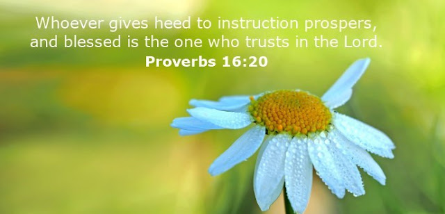 Whoever gives heed to instruction prospers, and blessed is the one who trusts in the Lord.