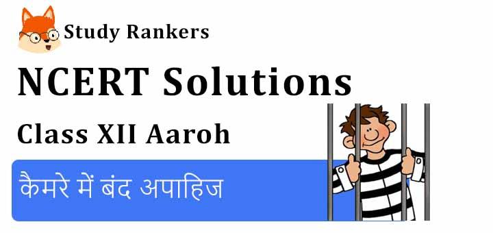 NCERT Solutions for Class 12 Hindi Aaroh Chapter 4 कैमरे में बंद अपाहिज