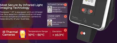 Cámara térmica en Anviz FacePass 7 IRT