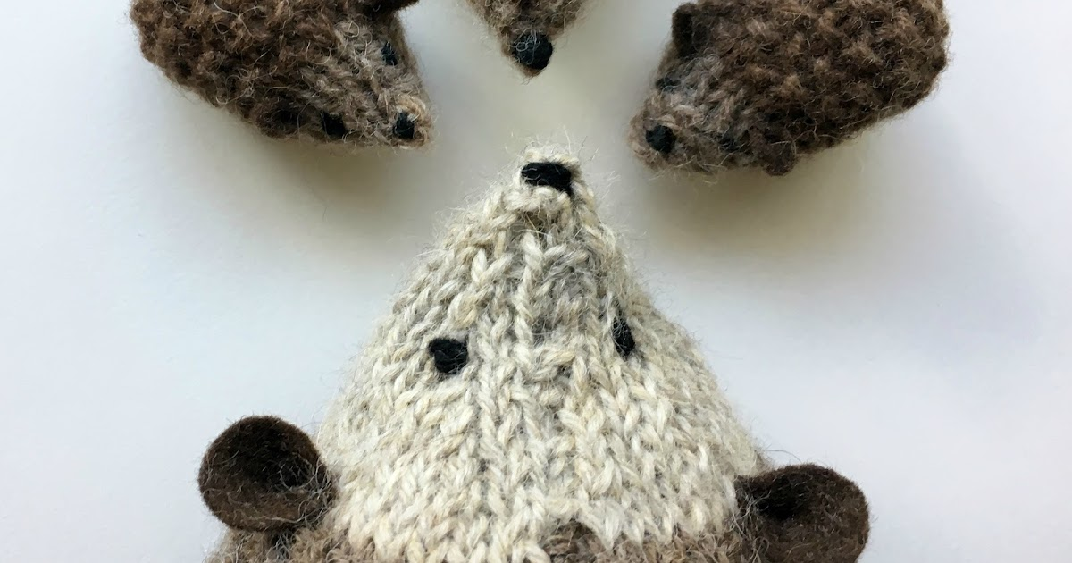 Stuffed Hedgehog Knitting Pattern : we bloom here: hans my hedgehog :: new enlarged knitting ...