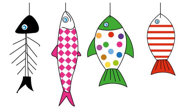 Voyages et exp riences joyeux 1er avril origines et - Dessins poissons d avril ...
