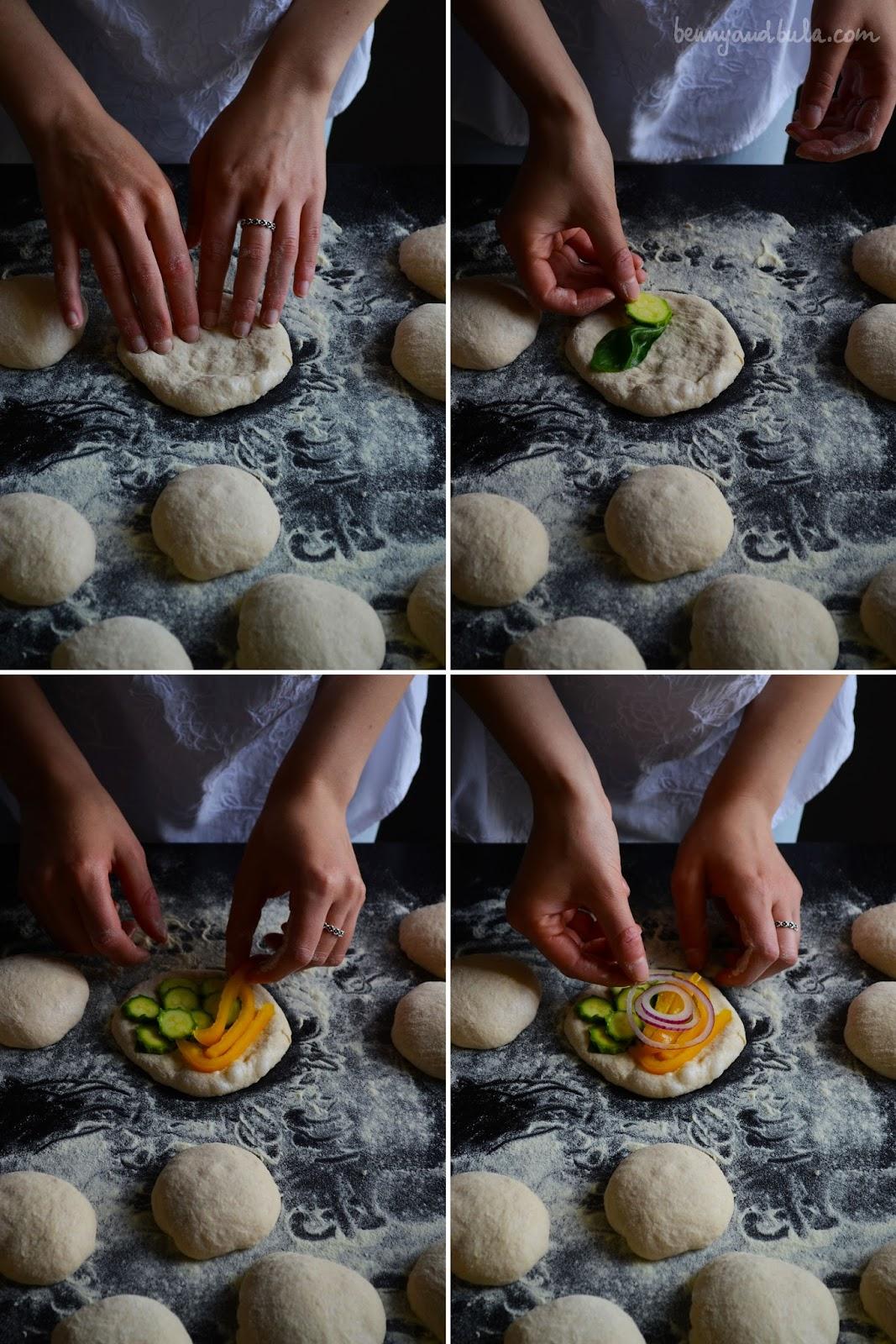 pizzette al farro integrale/ spelt pizza dough