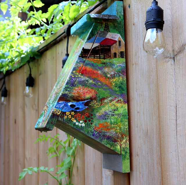 hand painted bird house diy