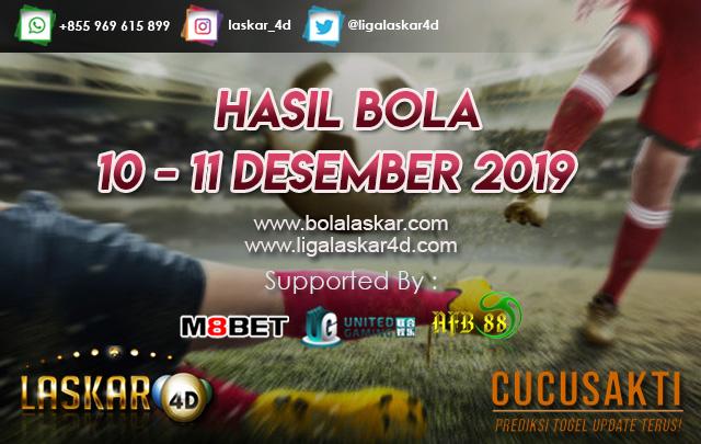 HASIL BOLA JITU TANGGAL 10 – 11 Desember 2019