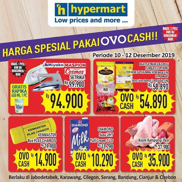 #Hypermart - #Promo Spesial Pakai OVO Cash Periode 10 - 12 Des 2019