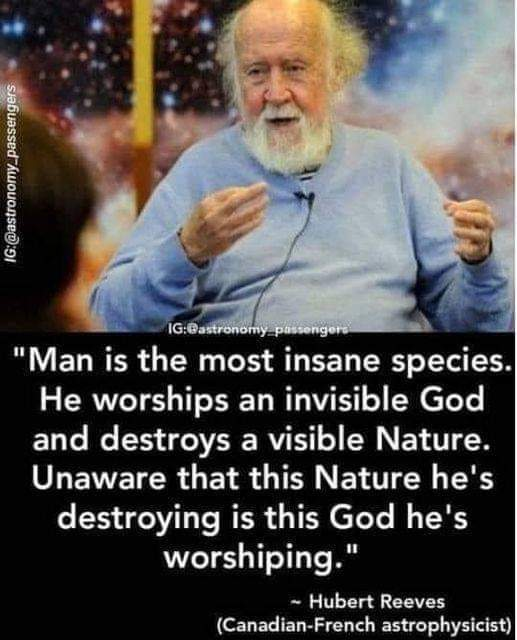 Man is insane.
