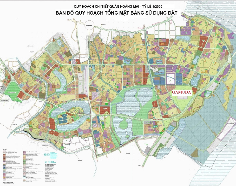 Bản đồ quy hoạch Hoàng Mai đến năm 2020