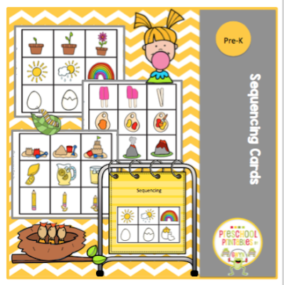 picture regarding Sequencing Cards Printable named Sequencing Playing cards and Mat ~ Preschool Printables