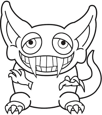 Halloween Printable: Halloween goblin coloring pages