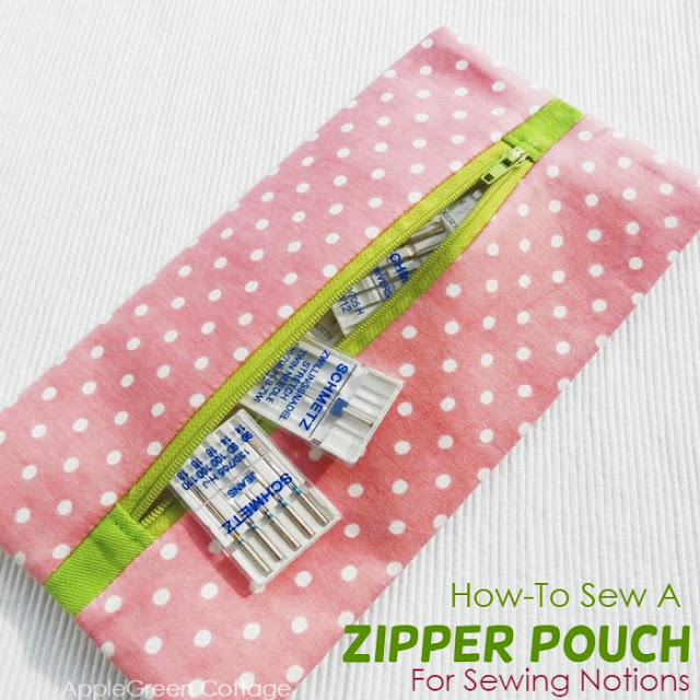 free zipper pouch to sew now