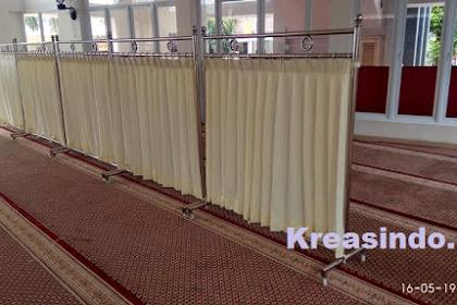 Hijab Masjid Stainless pesanan Bpk Rizki untuk Masjid Khoiru Ummah Ciputat Tangerang