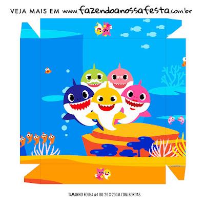 Fiesta de Baby Shark: Cajas para Imprimir Gratis.