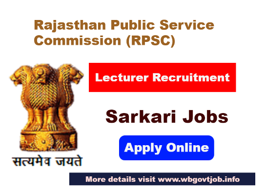 39 Lecturer Post Recruitment in RPSC