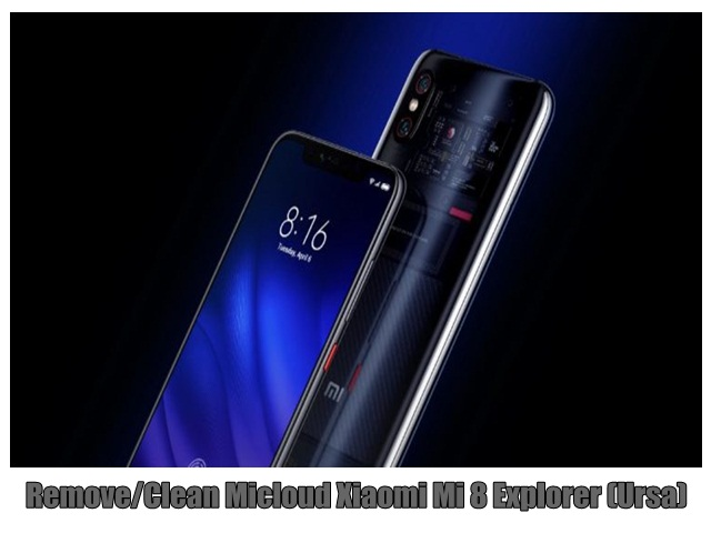 Remove/Clean Micloud Xiaomi Mi 8 Explorer (Ursa)