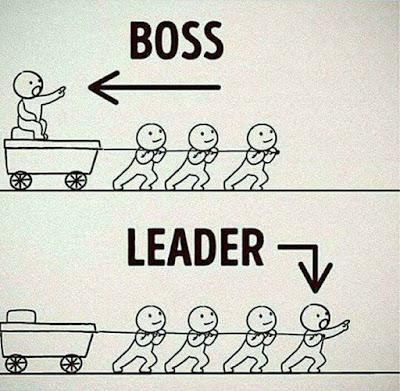 trabajo de un jefe y trabajo de un líder
