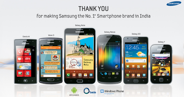 samsung beats nokia in india