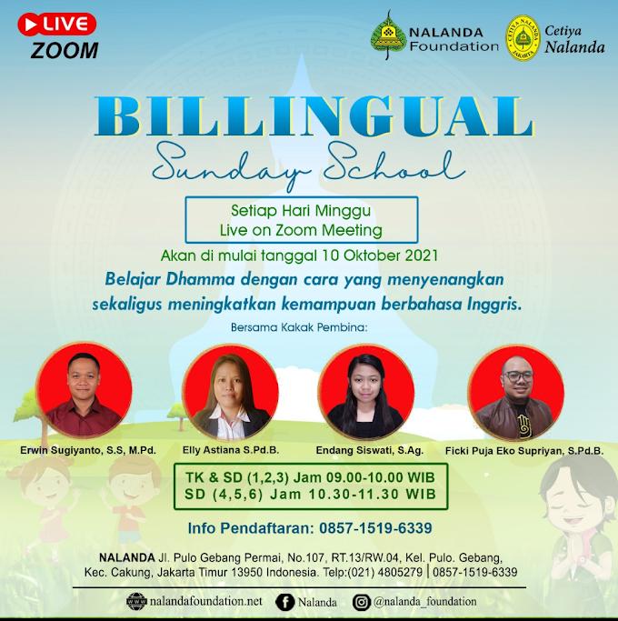 Belajar Dhamma  Sambil Belajar Bahasa Inggris Bersama Billingual Sunday School Nalanda
