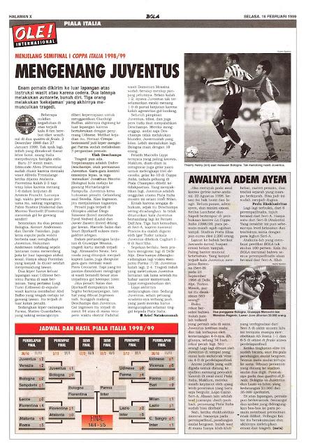 SEMIFINAL I COPPA ITALIA 1998/99 MENGENANG JUVENTUS