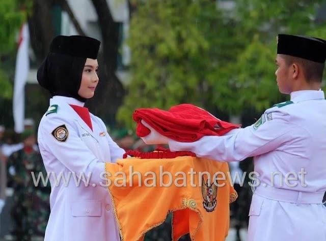 Sosok Wadya Wardani Wahid, Pembawa Bendera di HUT RI ke 74 Pinrang