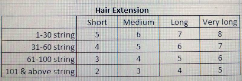 h4u salon hair extensions price list