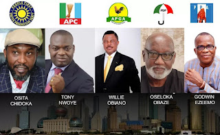 ANAMBRADECIDES2017: APC, PDP, APGA, UPP BATTLE FOR GOVERNORSHIP SEAT