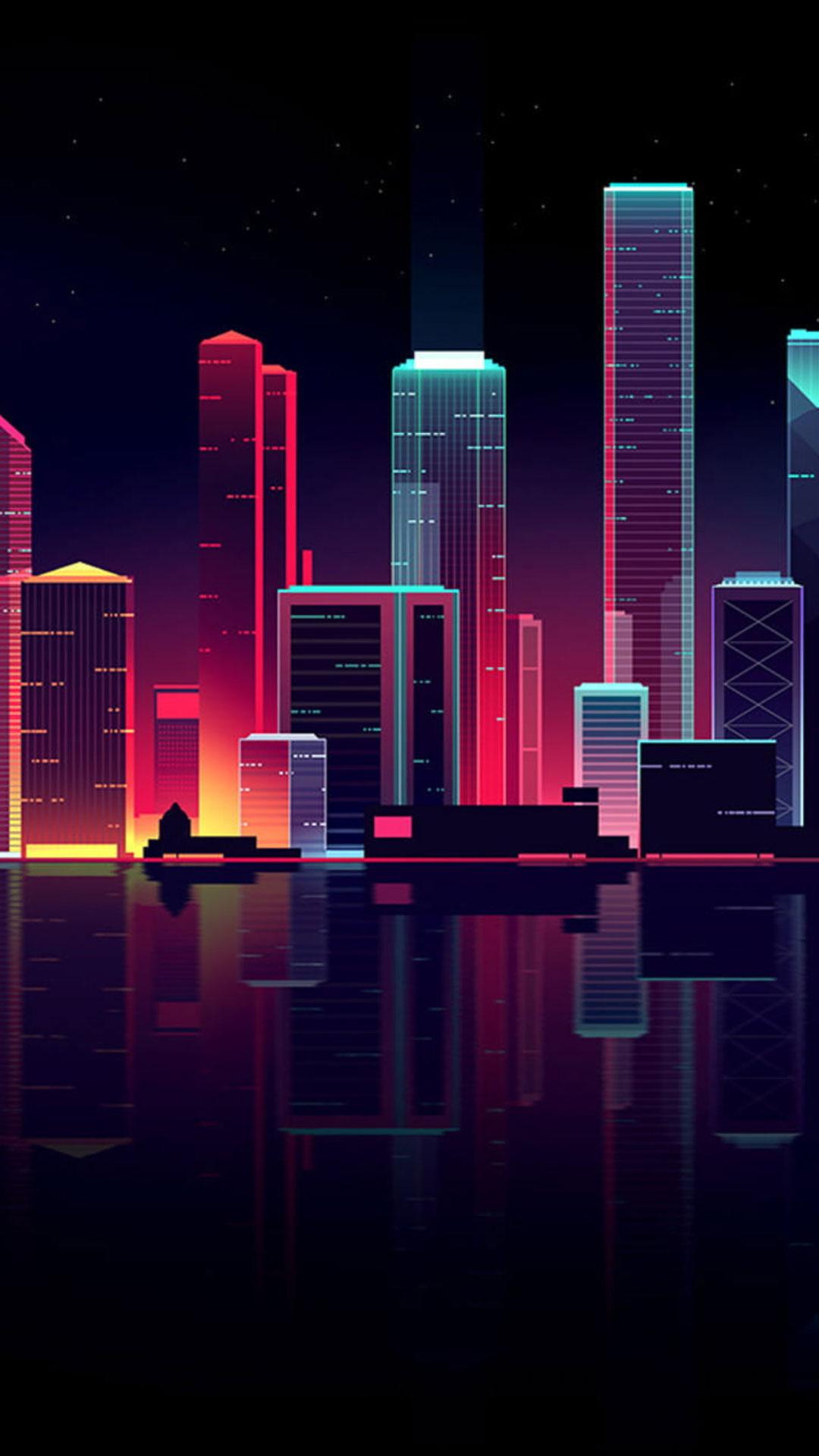 Night Neon City Wallpaper