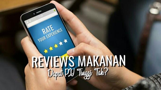 Entri Reviews Makanan Dapat Pageview Tinggi Tak?