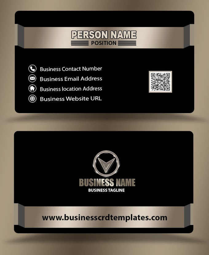 black color business card templates psd eps free download