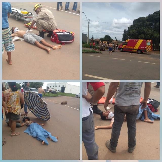 Anápolis: Jovem em mobilete é atropelado por caminhão