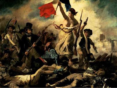 La libertad guiando al pueblo, cuadro de Delacroix