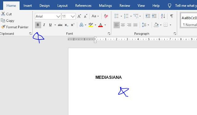 Cara Membuat Tulisan Blod di Ms Word