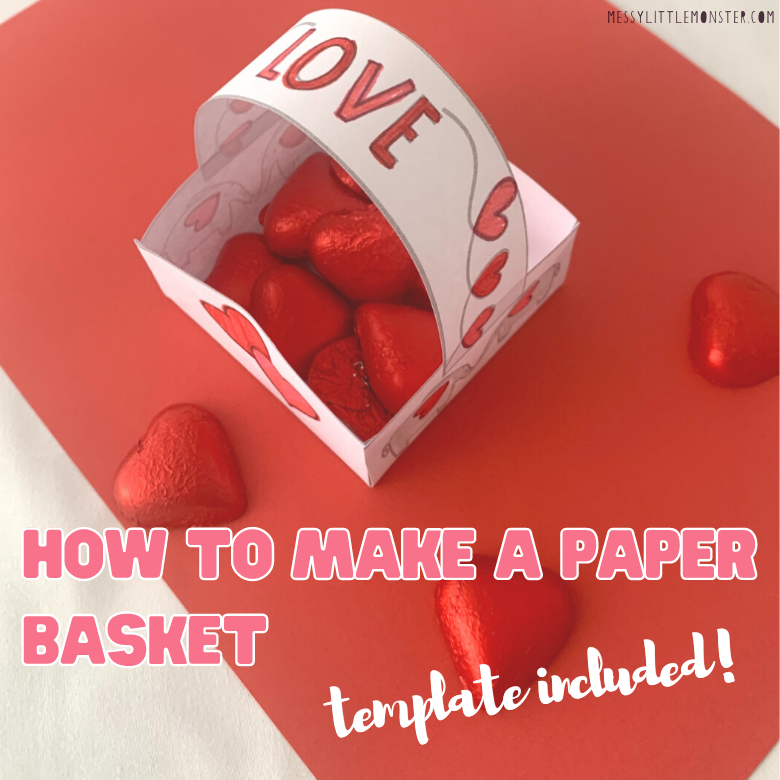How to make a paper basket - template included!