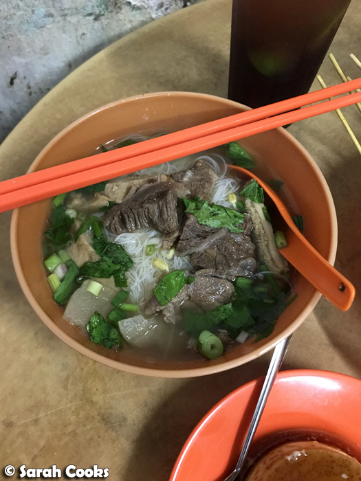 Beef vermicelli noodle soup, Thean Chun