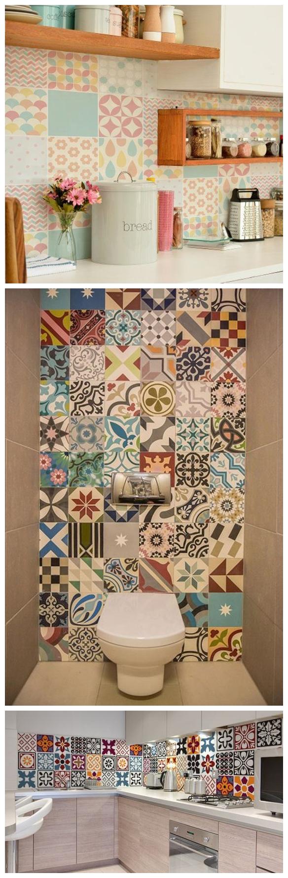 adesivos de parede azulejos