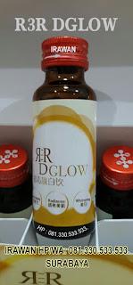 r3 dglow,whitening drink,minuman kecantikan,memutihkan kulit,menghapus noda,cantik alami