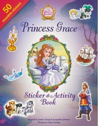 princess grace stick and activity book cover