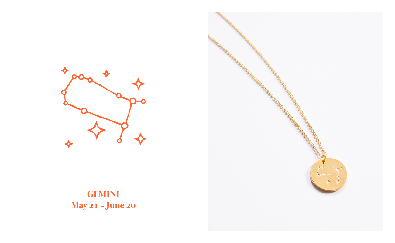 16K gold plated Zodiac Constellation Necklaces by PICO, www.picothestore.com