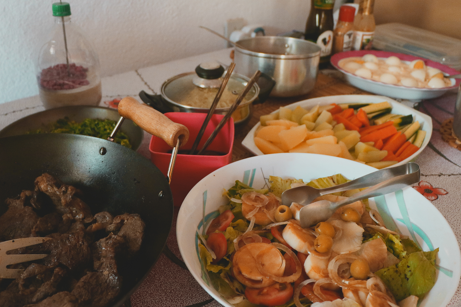 almoço caseiro em família