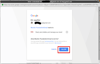 Allow Mozilla Thunderbird